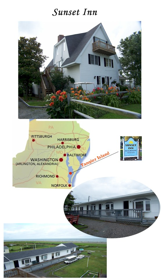 Sunset Inn on Tangier Island for Sale  House and 10 Cottages